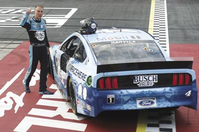 Kevin Harvick wins NASCAR's return race at Darlington Raceway