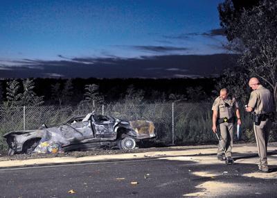 Man dies, two hurt in 3-car crash on Highway 99   News   appeal
