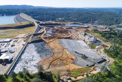 Oroville Dam spillway reconstruction