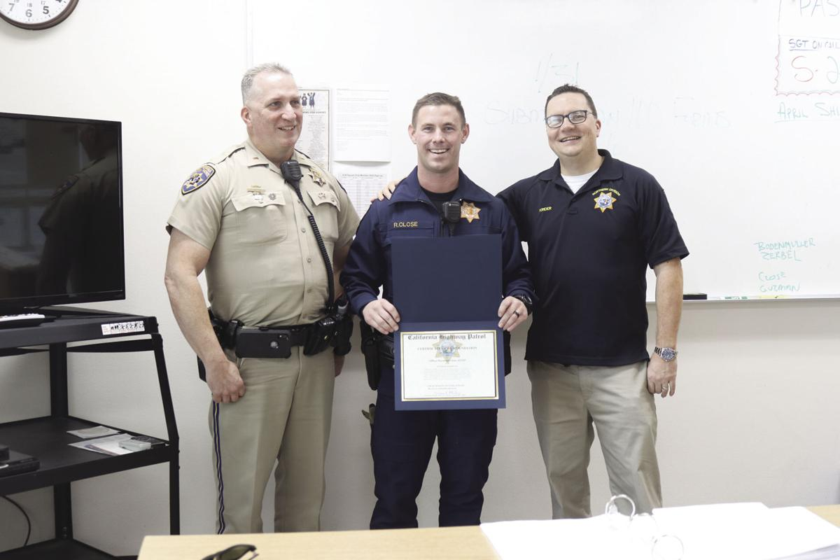 CHP officer honored with commendation
