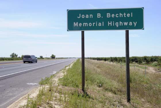 Supervisor Bechtel's work memorialized on Highway 99
