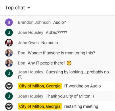 milton cc audio issues