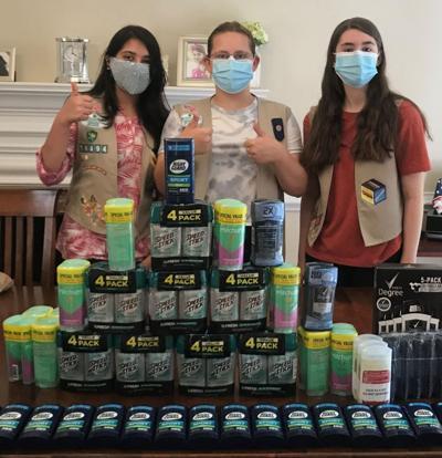 Nazeefa Loladia, Kate Myers and Caroline Green Silver Project Donation Drive