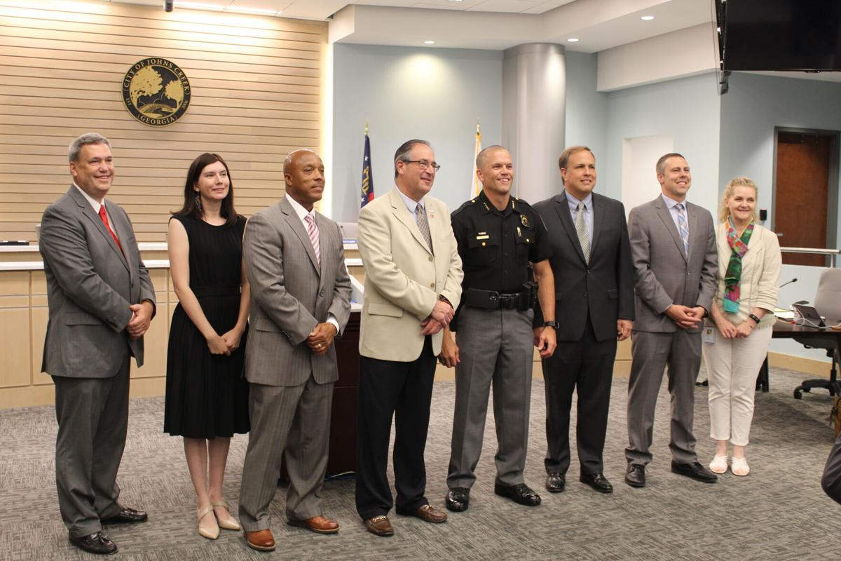 Johns Creek City Council welcomes new police chief Mark Mitchell