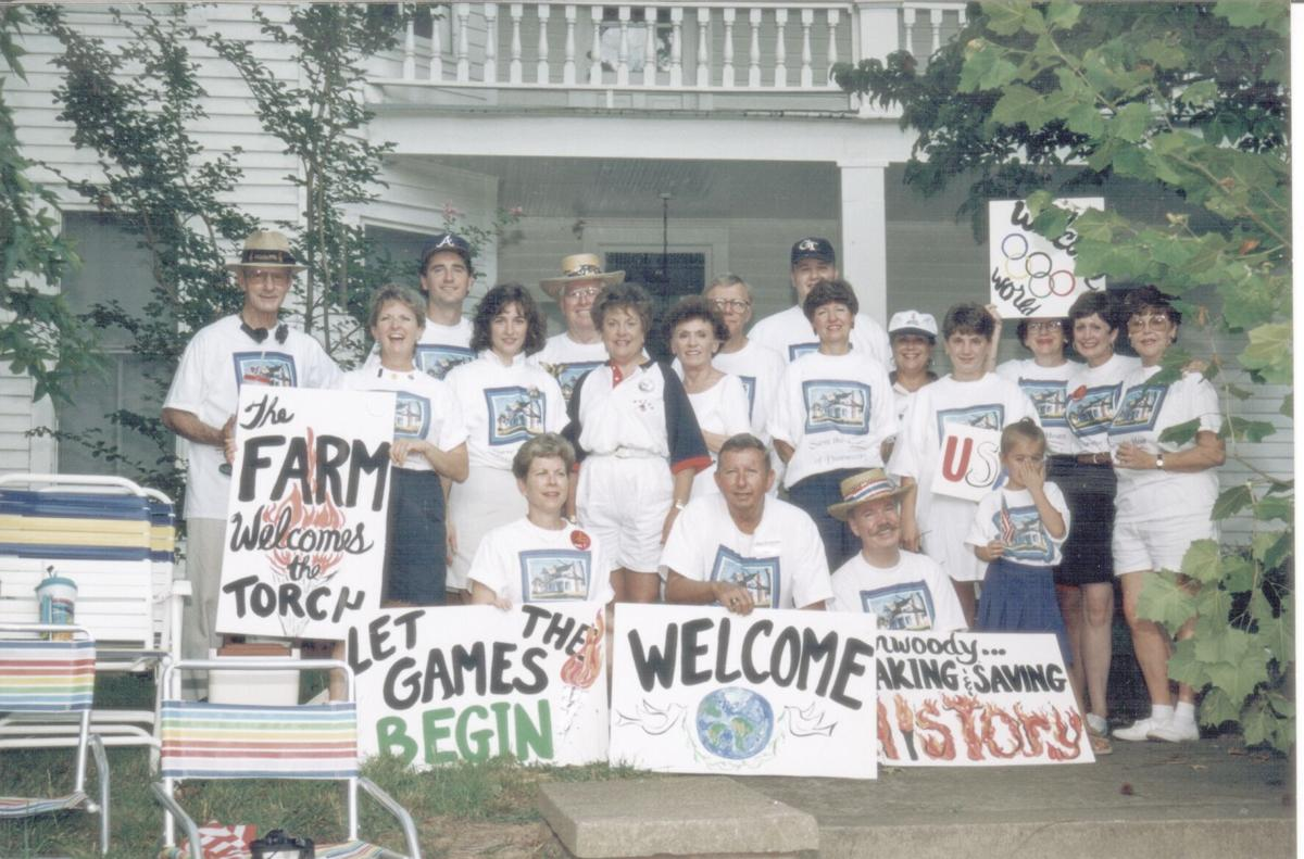 Cheek-Spruill House during Olympic torch pass 1996