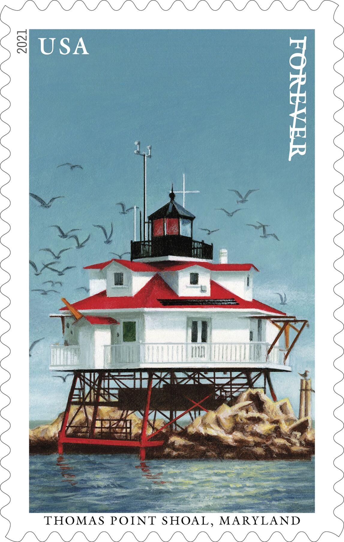 New Thomas Point Lighthouse Stamp via USPS