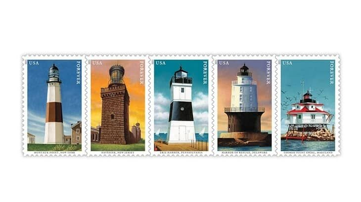 Five New Stamps