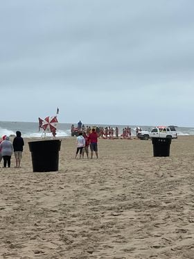 OCMD Beach Patrol Gathers To Search For Missing Teen Of 112th Street Beach In OCMD