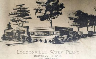 Drawing of Loudonville's water treatment plant