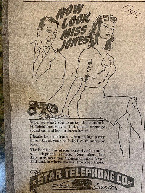Star Ad from 1945