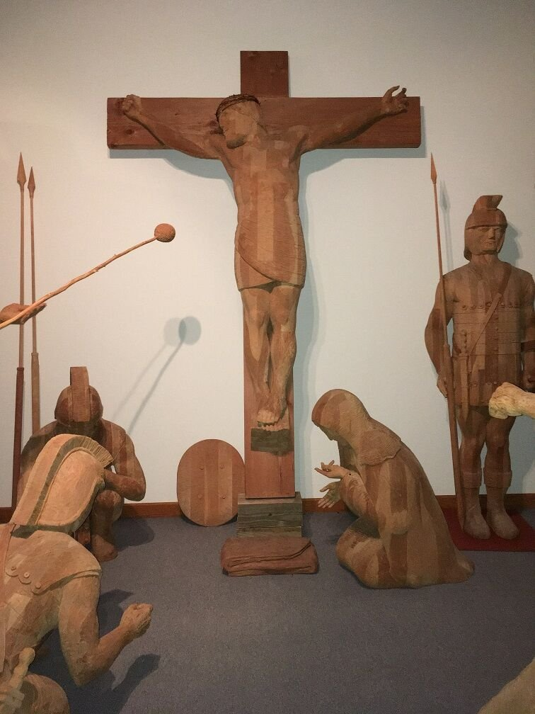 Barta's woodcarving of crucifixion