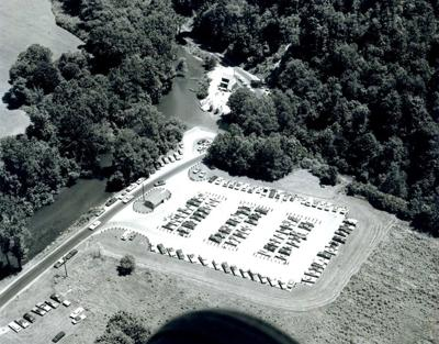 1972 aerial view of Mohican Canoe Livery
