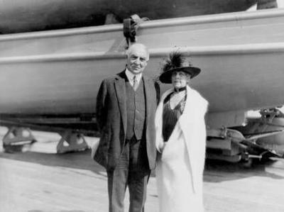 President Harding and his wife