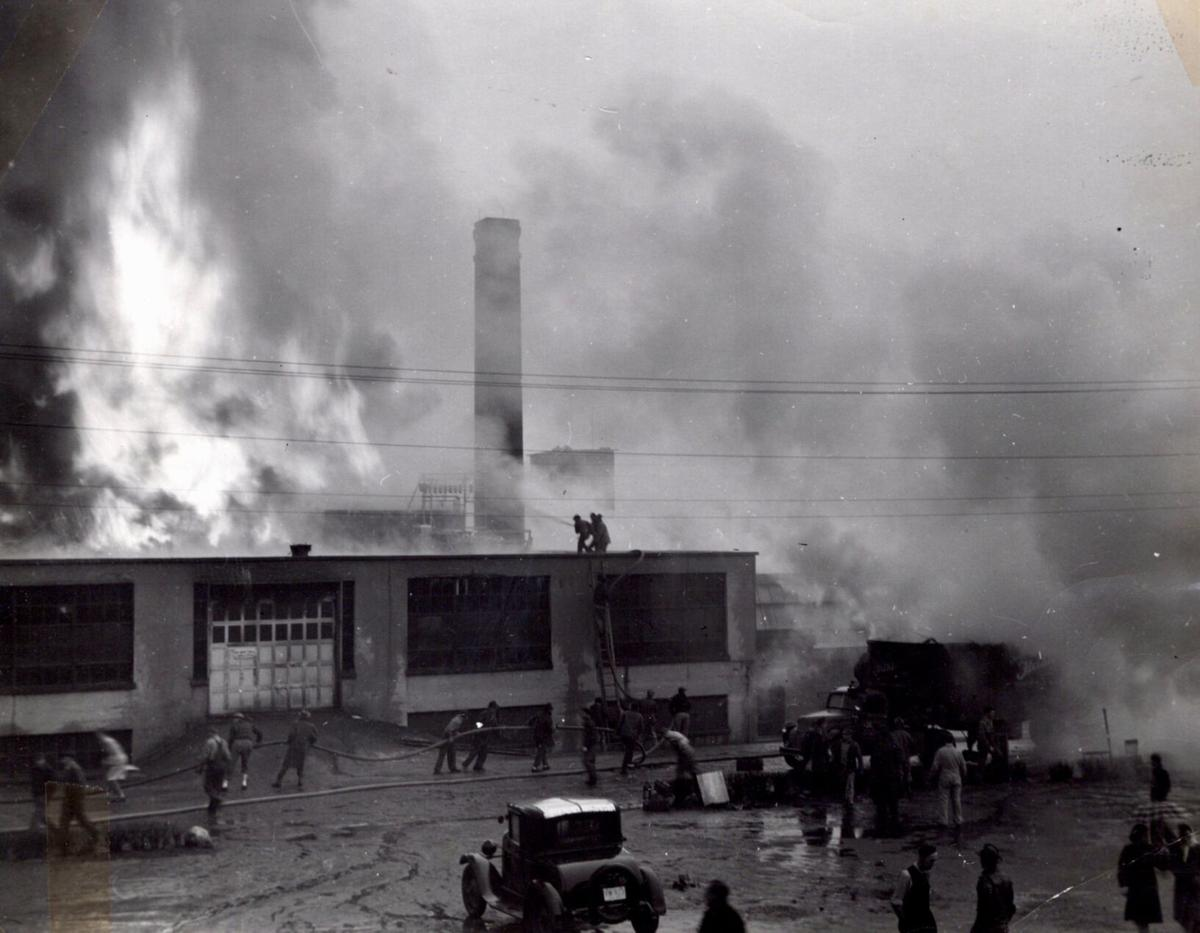 Fire on the roof in 1947