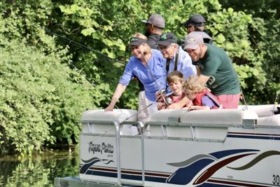 Governor Mike DeWine fishing