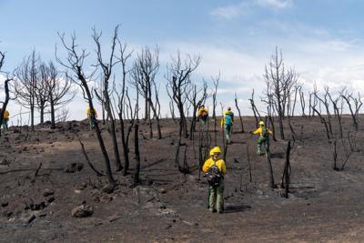 burn area lake christine fire