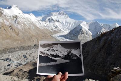 Rongbuk Glacier then and now