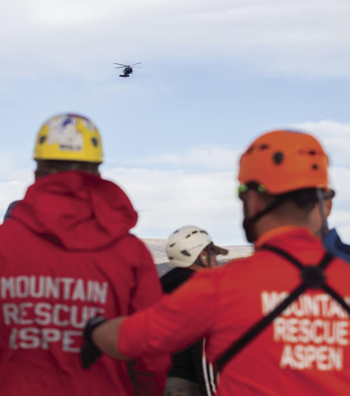 Mountain Rescue -- Viewing Helicopter