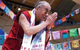 Dalai Lama preaches compassion, responsibility