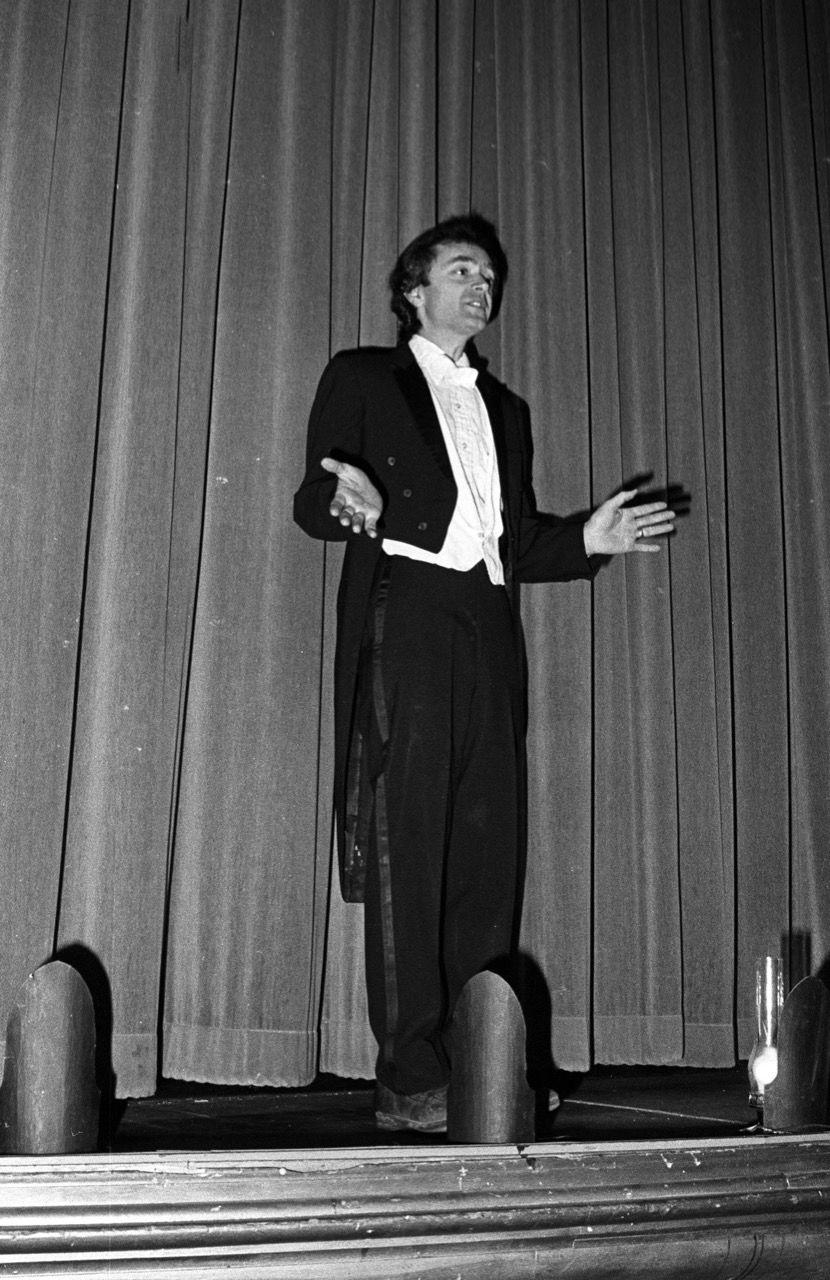 Jon Busch on stage at the Wheeler Opera House circa 1974. Photo courtesy Aspen Historical Society, Aspen Times Collection.jpeg