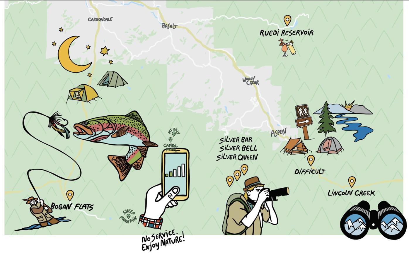 camping illo