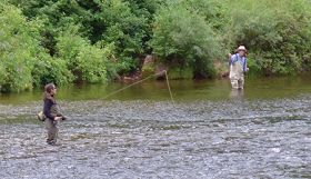 High Fryingpan water flows are 