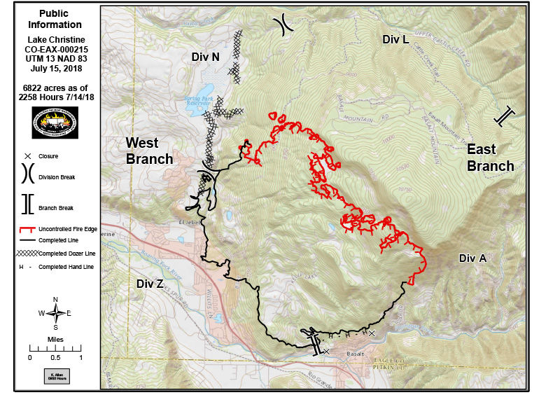 Lake Christine Fire update: Heavy fuel burn, no threat to