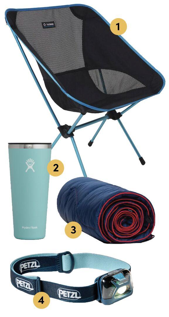 kit camping items