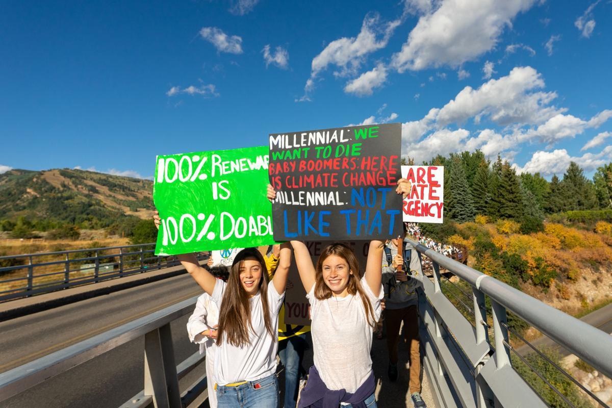 Aspen climate protest