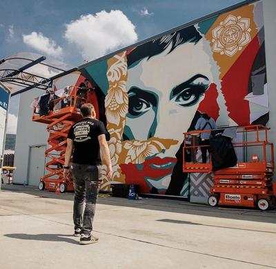 muralist shepard fairey will create work on downtown wall news