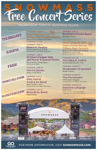 Snowmass Free Concert Schedule