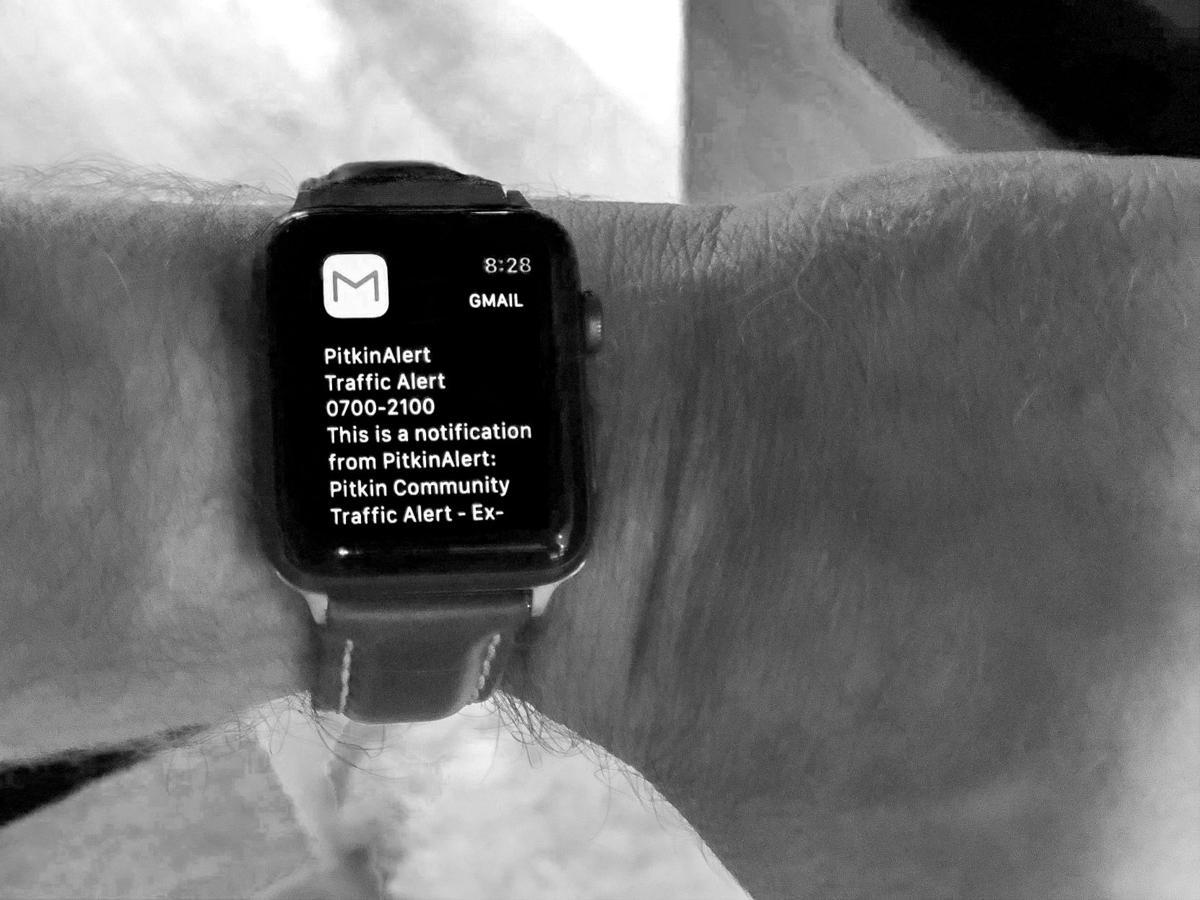 Pitkin Alerts: iPhone Notification