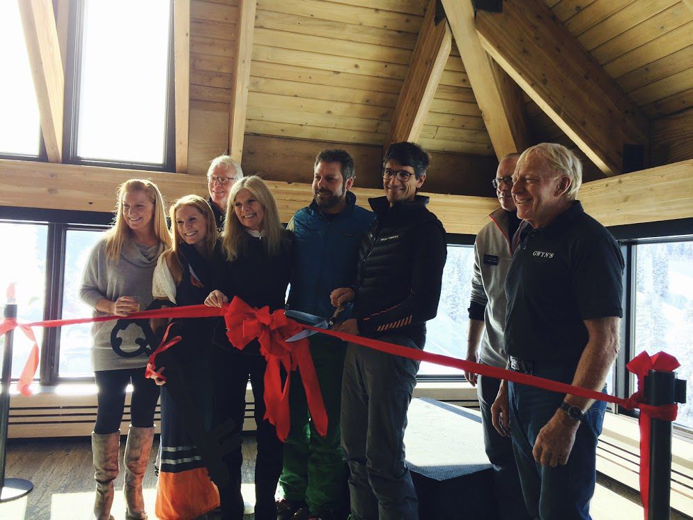 Ribbon cutting on Gwyn's High Alpine