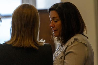 Kerri Johnson in court at sentencing