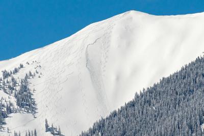 Highland Bowl slide, 4/17