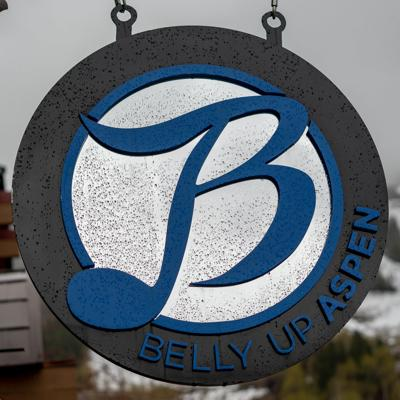 Belly Up Sign
