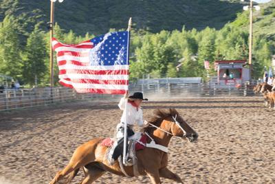 Snowmass Rodeo Flag Girl