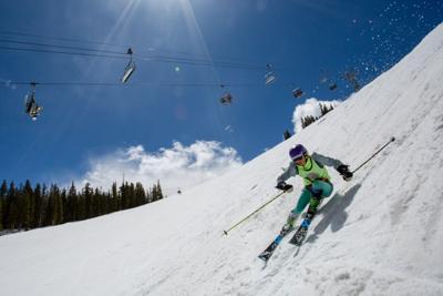 Summer skiing Ajax 2