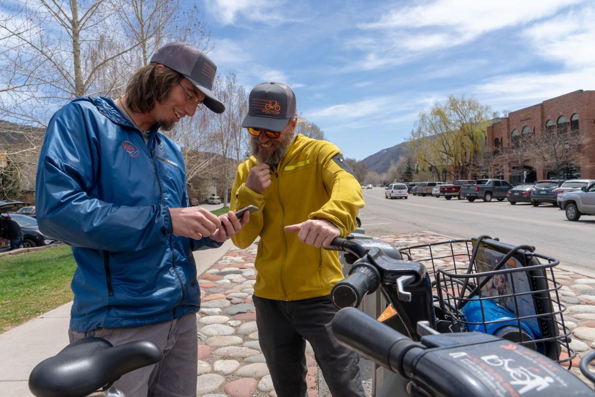 WE-cycle techs Luke DeMuthand Steve Miller