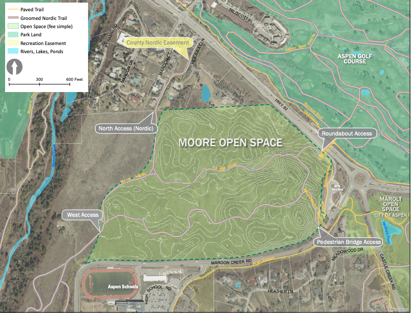 Moore open space map