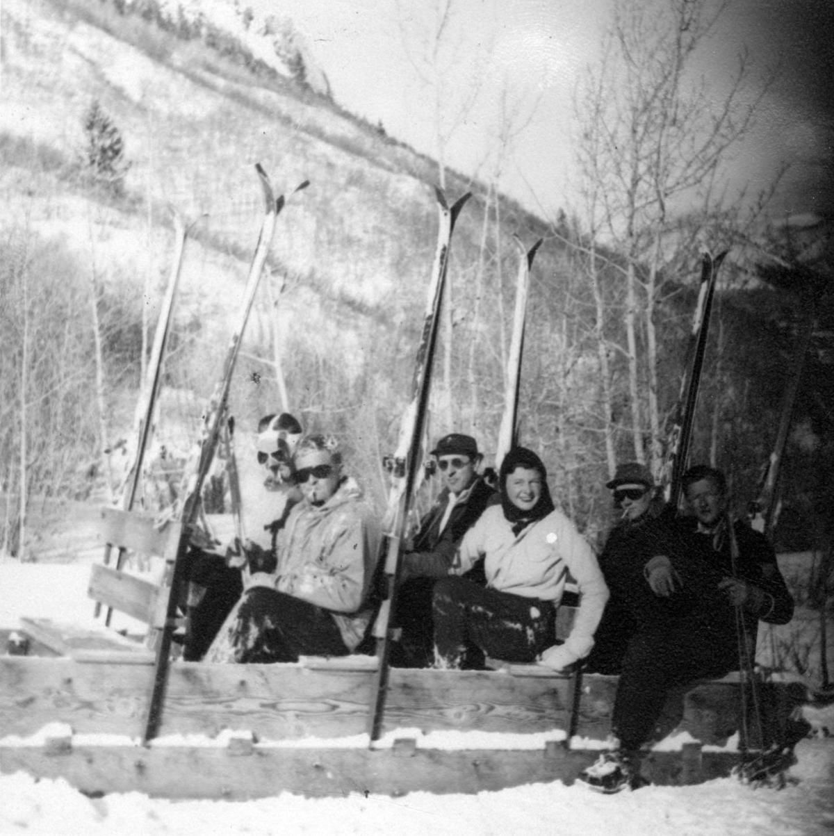 Boat Tow on Aspen Mountain in 1945