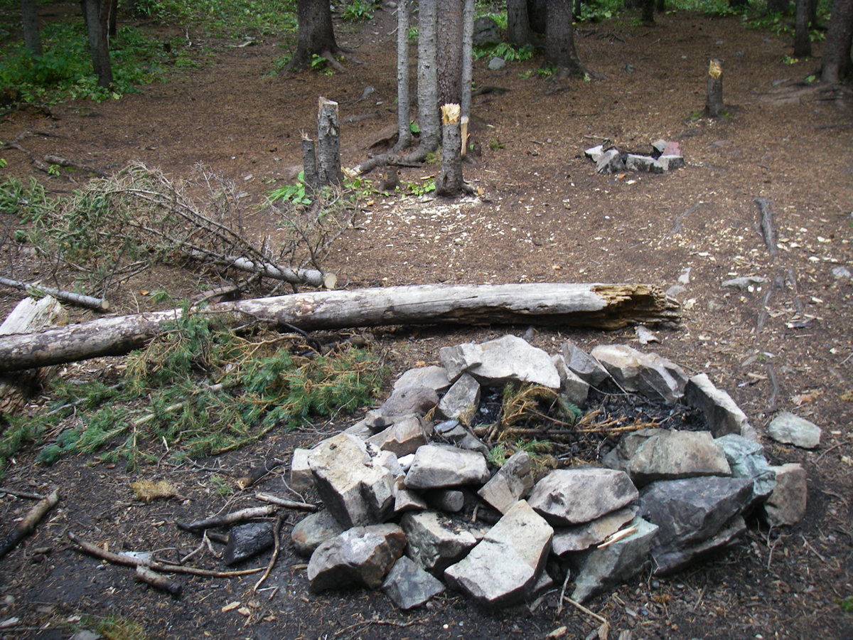 Illegal fire ring forest service