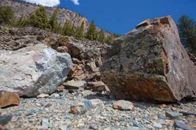 Massive rockslide demolishes road between Marble and Crested Butte
