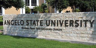 """""""Angelo State University"""" sign"""
