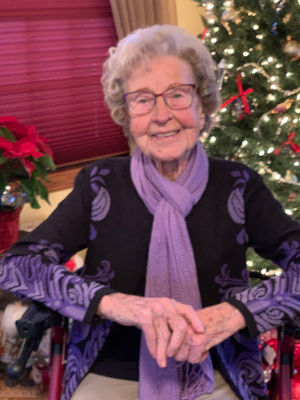 Laverne E. Weishaar turns 100