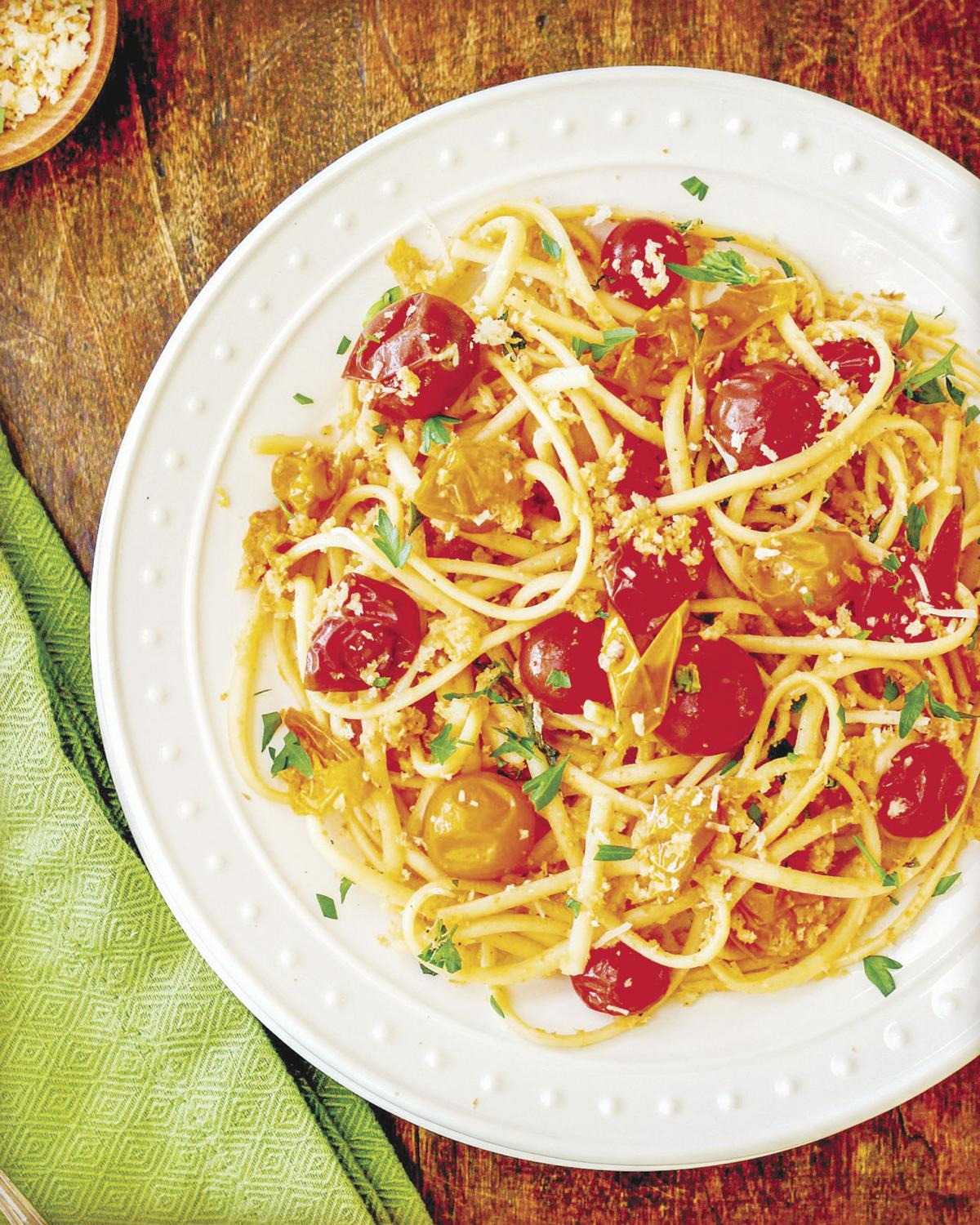 Linguine with cherry tomatoes