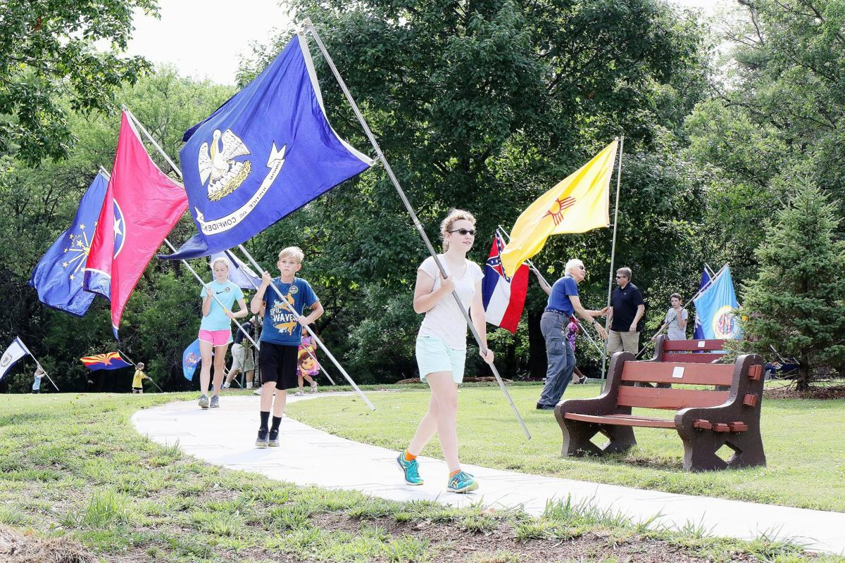 Celebrating flags of many colors   Inductees presented at event
