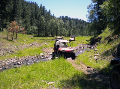 Trails near Galena, SD.