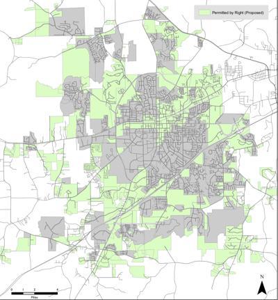 Proposed short-term rental map