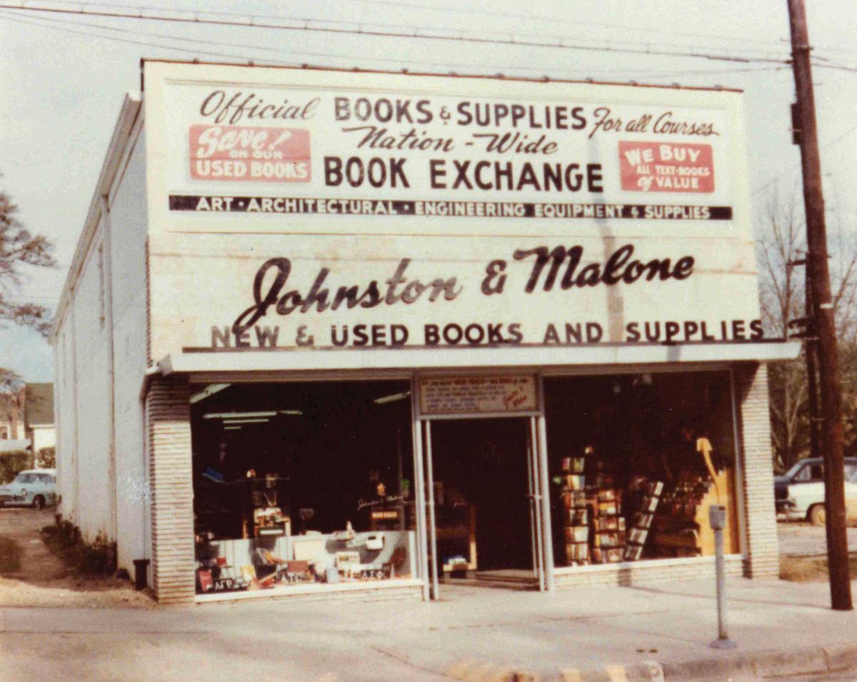 J&M Bookstore in 1954